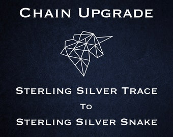 Chain Upgrade to 1mm Snake Chain * 14 16 18 20 22 24 28 32 inches * Sterling Silver