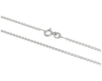 1mm Cable Chain * 16 18 20 24 inches * Sterling Silver * Trace Chain