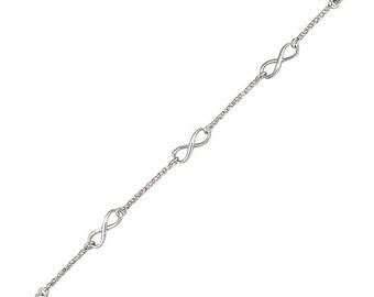 Sterling Silver Best Friends for Eternity Bangle Bracelet for Women