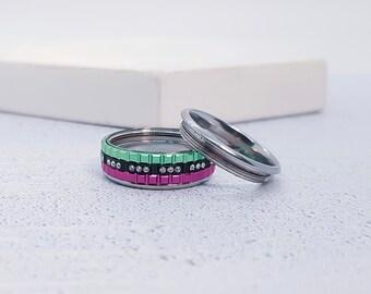 Stainless Steel Spinner Ring Starter Set for Men or Women * 8mm Mystic Gears Starter Set