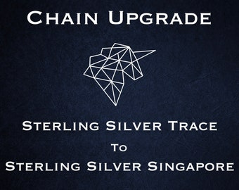 Chain Upgrade to 1mm Singapore Chain * 16 18 20 22 24 inches * Sterling Silver