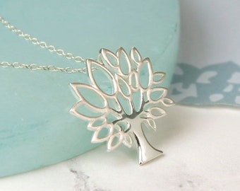 Personalised Tree of Life Necklace * Sterling Silver * Woodland * Nature * Tree-of-Life * Gift for Her