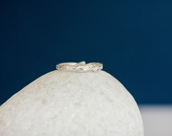 Sterling Silver Rustic Twig Branch Ring