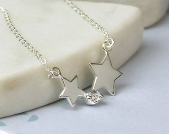 Cate * Star Necklace * Sterling Silver * Star Pendant * Shooting Star Jewelry * Make a Wish * Lucky Star Gift * Boho Jewelry * Celestial