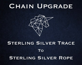 Chain Upgrade to 1mm Rope Chain * 16 18 20 24 inches * Sterling Silver * Prince of Wales *