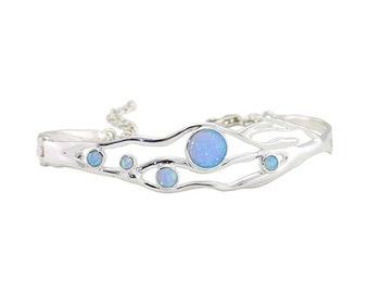 Briana * Organic Bracelet * Sterling Silver * Organic Jewelry * Textured Organic Jewelry * Rustic Bangle * Fluid Bracelet * Rustic Jewelry