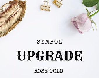 Symbol Upgrade - 18ct Rose Gold Vermeil
