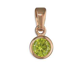 November Birthstone Necklace * Sterling Silver * CZ Citrine * Rose Gold * Birthday * Dainty Jewelry * Minimalist * Personalised Gift *