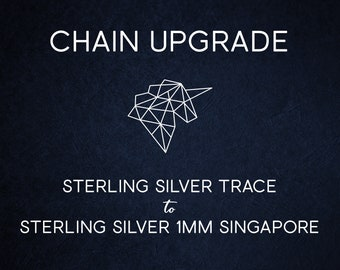 Chain Upgrade 1mm Singapore Chain * 16 18 20 22 24 inches * Solid Sterling Silver * Best for Women, Girls
