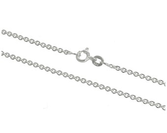 2mm Cable Chain * 16 18 20 24 inches * Sterling Silver * Trace Chain