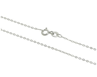 1mm Flat Cable Chain * 14 16 18 20 22 24 28 inches * Sterling Silver * Trace Chain