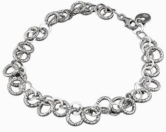 Khadija * Organic Bracelet * Sterling Silver * Organic Jewelry * Textured Organic Jewelry * Rustic Bangle * Fluid Bracelet * Rustic Jewelry