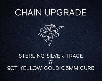 Chain Upgrade 0.5mm Curb Chain * 16 18 20 inches * Solid 9ct Yellow Gold * Best for Men, Women, Girls, Boys