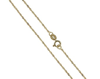1mm Singapore Chain * 16 18 20 22 inches * 9ct Yellow Gold