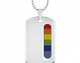 Morgan * LGBT Pride Necklace * Stainless Steel * Rainbow Pride Jewelry * Rainbow Necklace * LGBT+ * LGBTQ * Pride Necklace * Personalised