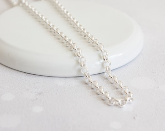 4.6mm Cable Chain * Sterling Silver * 20 inches * Trace Chain
