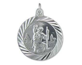 Brendan * St Christopher Necklace * Sterling Silver * Patron Saint * Keep Safe Traveller * Going Away * Wanderlust Jewelry * Protection *