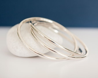 Sterling Silver 10mm Russian Ring Wedding Bangle Bracelet