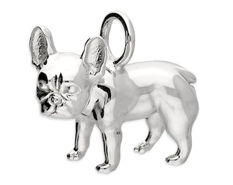 Personalised French Bulldog Necklace * Sterling Silver * Frenchie Pendant * Dog Jewelry