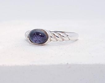 UK O Iolite Ring * Sterling Silver * Celtic Birthstone Ring * Celtic Knot * Irish Ring * Celtic Knot Jewelry * Birthstone Ring *