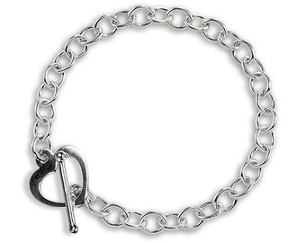 0.7mm Cable Bracelet Chain * 6 7 8 inches * Sterling Silver * Ideal for Clip Charms