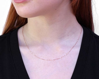 1mm Faceted Trace Chain * 16 20 22 inches * 9ct Rose Gold * Cable Chain