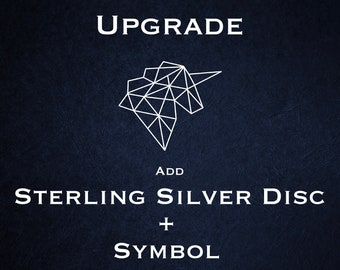 Disc Upgrade - Sterling Silver with Symbol