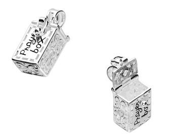 Asthore * Prayer Necklace * Sterling Silver * Prayer Box * Locket Jewelry * Secret Box * Religion * Prayer Pendant * Prayer Locket *