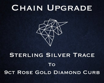 Chain Upgrade to 0.5mm Diamond Cut Curb Chain * 16 18 inches * 9ct Rose Gold