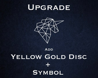Disc Upgrade - 18ct Yellow Gold Vermeil with Symbol