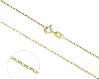 1mm Diamond Cut Belcher Chain * 16 18 20 inches * 9ct Yellow Gold