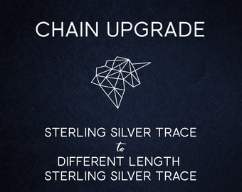 Chain Upgrade Trace Chain * 16 18 20 24 inches * Solid Sterling Silver * Best for Men, Women, Girls, Boys