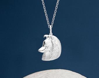 Personalised Sterling Silver Shetland Sheepdog Dog Pendant Necklace