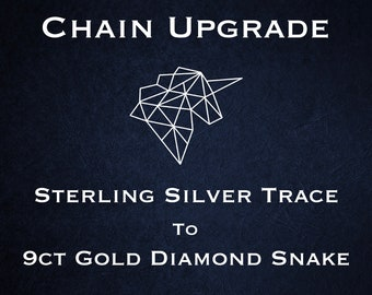 Chain Upgrade to 1mm Diamond Cut Snake Chain * 16 18 inches * 9ct Yellow Gold