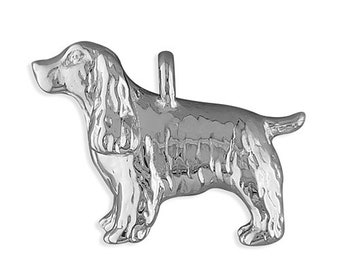 Personalised Spaniel Necklace * Sterling Silver * Spaniel Pendant * Dog Jewelry