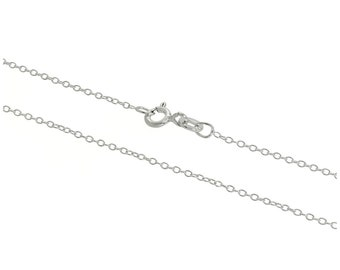 1mm Round Cable Chain * 14 16 18 20 22 24 28 32 inches * Sterling Silver