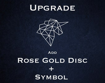 Disc Upgrade - 18ct Rose Gold Vermeil with Symbol