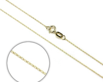 0.8mm Belcher Chain * 16 18 20 inches * 9ct Yellow Gold