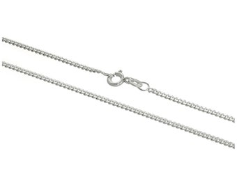 2mm Curb Chain * 16 18 20 24 inches * Sterling Silver