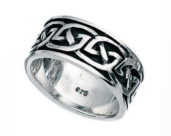Sterling Silver Oxidized Celtic Band Ring