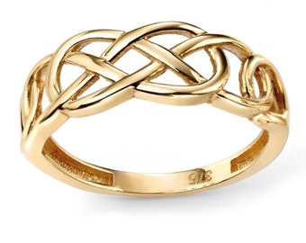 Celtic Ring * 9ct Yellow Gold * Celtic Birthstone Ring * Celtic Knot * Irish Ring * Celtic Knot Jewelry * Birthstone Ring *