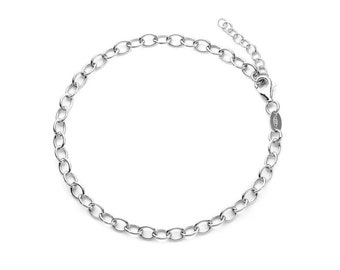 0.7mm Rolo Bracelet Chain * 6 7 inches * Sterling Silver * Ideal for Clip Charms