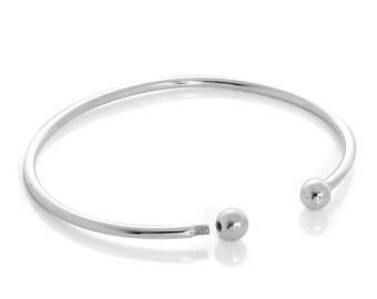 Personalised Solid Torc Bracelet * Sterling Silver * Silver Torc Cuff * Viking Torc Bracelet * Celtic Torc Bracelet * Irish Torc Bangle