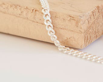 20in Heavy Curb Chain * Diamond Cut Curb Necklace * Curb Jewelry * Curb Chain Gift * Silver Curb Chain Jewelry * Sterling Curb Chain