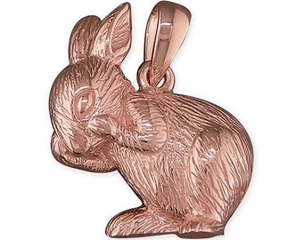 Anja * Rabbit Necklace * Sterling Silver * Rabbit Pendant * Rabbit Jewelry * Rabbit Gift * Bunny * Hare * Easter * Woodland * Flora Fauna *