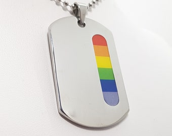Personalised LGBT Pride Necklace * Stainless Steel * Rainbow Pride Jewelry * Rainbow Necklace * LGBT+ * LGBTQ * Pride Necklace *