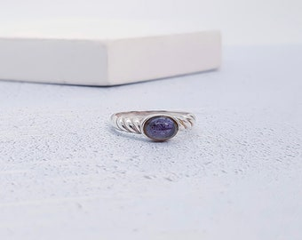 UK O / US 7 Iolite Ring * Sterling Silver * Celtic Birthstone Ring * Celtic Knot * Irish Ring * Celtic Knot Jewelry * Birthstone
