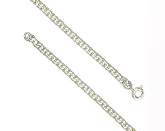 Sterling Silver Heavy Round Belcher Chain Necklace - 18 20 22 24 28 Inch