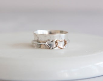 Meditation Ring * Sterling Silver * Anxiety Spinner* Spinning Worry Jewelry * Boho Spin Ring * Custom Prayer Ring * Calming Motion