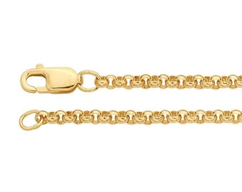 36in Rolo Chain * Belcher Necklace Chain * Rolo Chain Jewelry * Gold Rolo Chain * 18ct Gold Vermeil * Rolo Chain Necklace * Yellow